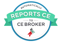 Automatically Reports to CE Broker Badge