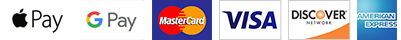 The credit cards Fast CE For Less accepts; Apple Pay, G Pay, Master Card, Visa, Discover, American Express